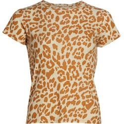 The Lil Sinful Leopard Linen-Blend T-Shirt found on Bargain Bro India from Saks Fifth Avenue Canada for $110.99