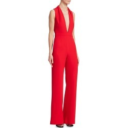 Brandon Maxwell Women's V-Neck Crepe Jumpsuit - Red - Size 8 found on MODAPINS from Saks Fifth Avenue for USD $544.35