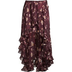 Caroline Constas Women's Adelle Floral Silk Ruffle Skirt - Bordeaux - Size Small found on MODAPINS from Saks Fifth Avenue for USD $223.99