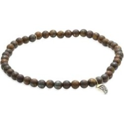 Mini Horn Charm 14K Yellow Gold, Champagne Diamond & Bronzite Beaded Bracelet found on Bargain Bro India from Saks Fifth Avenue Canada for $460.06