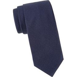 Brioni Men's Textured Solid Silk Tie - Midnight Blue