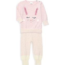 Egg Baby Baby Girl's Nova Sweater & Sweatpants Knit Set - Pink - Size 12 Months