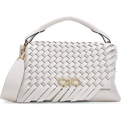 Anya Hindmarch Women's Mini Rope Bow Woven Leather Shoulder Bag - Chalk found on MODAPINS from Saks Fifth Avenue for USD $1695.00