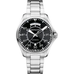 Analog Pilot Day Date Stainless Steel Bracelet Watch found on MODAPINS from The Bay for USD $1280.00
