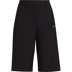 Off-White Women's Formal Wool-Blend Shorts - Black - Size 0 found on MODAPINS from Saks Fifth Avenue for USD $600.00