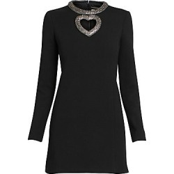 Saint Laurent Women's Heart Cutout Mini Dress - Black - Size 40 (8) found on Bargain Bro Philippines from Saks Fifth Avenue for $3990.00