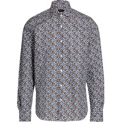 Saks Fifth Avenue Men's COLLECTION Exploded Floral Woven Sport Shirt - Blue - Size Small found on Bargain Bro from Saks Fifth Avenue for USD $90.29