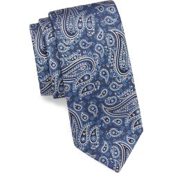 Brioni Men's Paisley-Embroidered Silk Tie - Blue found on MODAPINS from Saks Fifth Avenue for USD $260.00