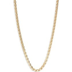 14K Goldplated Sterling Silver Box Chain found on Bargain Bro Philippines from Saks Fifth Avenue OFF 5TH for $336.00