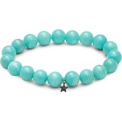 Amazonite, Sterling Silver & 0.055 TCW Black Diamond Beaded Bracelet found on Bargain Bro India from Saks Fifth Avenue OFF 5TH for $125.00