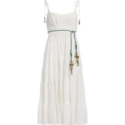 Zimmermann Women's Edie Tiered Braid-Waist Midi Sun Dress - Ivory - Size 2 (6-8) found on MODAPINS from Saks Fifth Avenue for USD $371.00