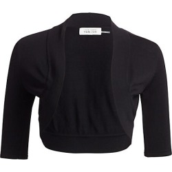 Teri Jon by Rickie Freeman Women's Knit Shrug - Black - Size Large found on MODAPINS from Saks Fifth Avenue for USD $180.00