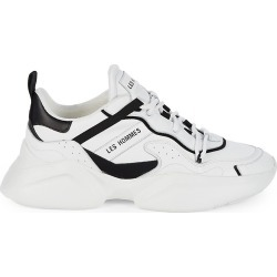 Les Hommes Men's Low-Top Leather Chunky Sneakers - White Black - Size 8 found on MODAPINS from Saks Fifth Avenue OFF 5TH for USD $179.99