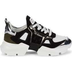 Les Hommes Men's Leather & Suede Sneakers - White Black - Size 11 found on MODAPINS from Saks Fifth Avenue OFF 5TH for USD $179.99