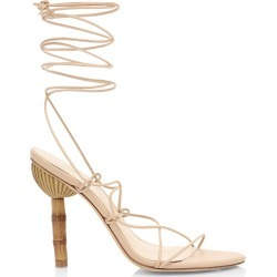 Cult Gaia Women's Soleil Ankle-Wrap Leather Sandals - Sand - Size 10.5 found on MODAPINS from Saks Fifth Avenue for USD $388.00