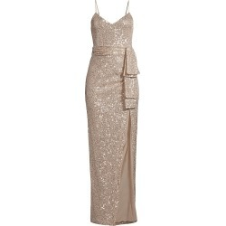 Likely Women's Emile Draped Sash Sequined Gown - Silver - Size 6 found on MODAPINS from Saks Fifth Avenue for USD $149.24