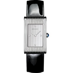 Boucheron Women's Reflet Steel, Diamond & Patent Leather Strap Medium Watch - Black found on MODAPINS from Saks Fifth Avenue for USD $4620.00