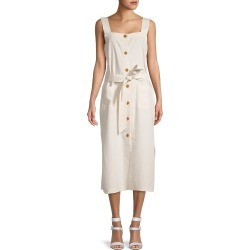 DL1961 Women's Lexia Belted Midi Dress - Oatmeal - Size L found on Bargain Bro India from Saks Fifth Avenue OFF 5TH for $59.99