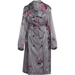 Floral Trench Rain Coat