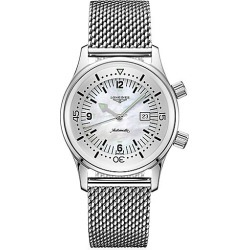 Longines Women's Legend Diver Stainless Steel Mesh Bracelet Watch - Mother Of Pearl found on MODAPINS from Saks Fifth Avenue for USD $2400.00