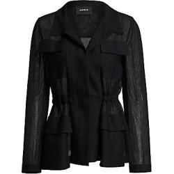 Akris Women's Safari Jacket - Black - Size 10