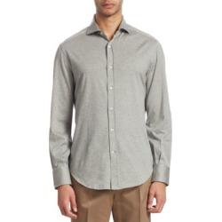 Full Collar Jersey Button-Down