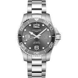 Longines Men's HydroConquest Stainless Steel Automatic Diving Watch - Grey found on MODAPINS from Saks Fifth Avenue for USD $1600.00