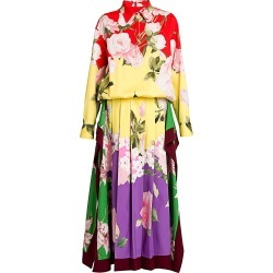 Valentino Women's Flower Collage Midi Dress - Size 10 found on Bargain Bro from Saks Fifth Avenue for USD $4,940.00