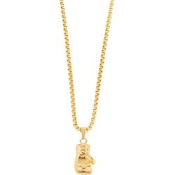 George Goldtone Titanium Boxing Glove Pendant Necklace found on Bargain Bro India from Saks Fifth Avenue OFF 5TH for $42.00