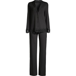 La Perla Women's Tres Souple 2-Piece Lace-Trimmed Pajama Set - Black - Size Small found on MODAPINS from Saks Fifth Avenue for USD $222.00