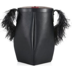 Valentino Garavani By Your Side Feather-Trimmed Leather Bucket Bag found on Bargain Bro from Saks Fifth Avenue UK for £1413