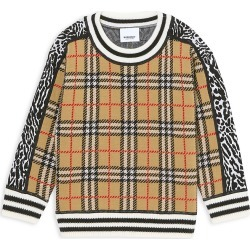Burberry Little Girl's & Girl's Leopard & Plaid Sweater - Leopard Print - Size 8 found on Bargain Bro India from Saks Fifth Avenue for $350.00