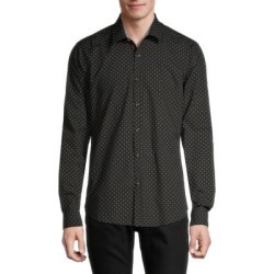 Slim-Fit Medallion Dot Shirt found on GamingScroll.com from The Bay for $21.96