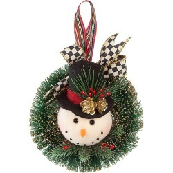 MacKenzie-Childs Snowman Wreath Ornament found on Bargain Bro India from Saks Fifth Avenue for $48.00