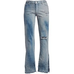 Alchemist Women's Meg 2 Distressed Jeans - Cloud - Size 28 (4-6) found on MODAPINS from Saks Fifth Avenue for USD $260.00