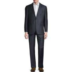 Saks Fifth Avenue Men's Tailored-Fit Striped Wool Suit - Navy - Size 40 R found on Bargain Bro from Saks Fifth Avenue OFF 5TH for USD $186.18