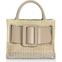 Boyy Women's Bobby Belted Raffia & Leather Bag - Beige Gradiant found on MODAPINS from Saks Fifth Avenue for USD $626.50