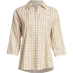 Akris Punto Checked Kimono Blouse - Size 14 found on MODAPINS from Saks Fifth Avenue for USD $278.00