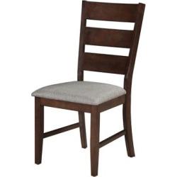 Ensemble de 2 chaises à siège rembourré