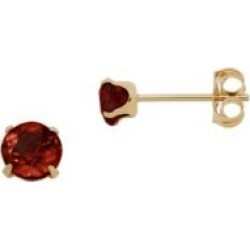 Kids 14KT Gold and Garnet Earrings