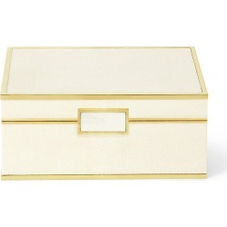 Aerin Shagreen Jewelry Box - Cream - Size Small found on Bargain Bro India from Saks Fifth Avenue for $850.00