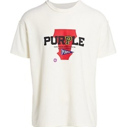 Purple Brand Men's Logo Cotton T-Shirt - White - Size XL found on Bargain Bro Philippines from Saks Fifth Avenue for $120.00