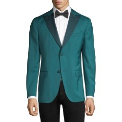 Boglioli Men's Lapel Virgin Wool Single-Breasted Blazer - Aqua - Size 54 (44) R found on MODAPINS from Saks Fifth Avenue OFF 5TH for USD $444.97