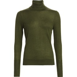 Saks Fifth Avenue Women's COLLECTION Cashmere Turtleneck Sweater - Olive Moss - Size Small found on Bargain Bro from Saks Fifth Avenue for USD $100.70