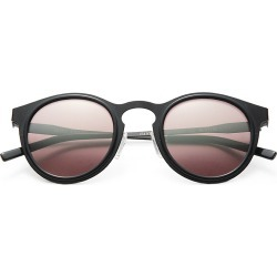 Kyme Men's Miki 46mm Round Mirror Sunglasses - Black found on MODAPINS from Saks Fifth Avenue for USD $325.00