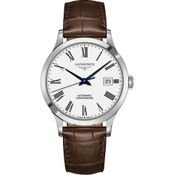 Longines Men's Record 40MM Alligator-Strap Automatic Watch - White found on MODAPINS from Saks Fifth Avenue for USD $2025.00