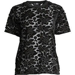7 For All Mankind Women's Sheer Floral Lace T-Shirt - Black - Size Medium found on MODAPINS from LinkShare USA for USD $189.00