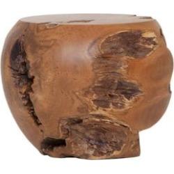 Solid Teak Wood Mushroom Stool