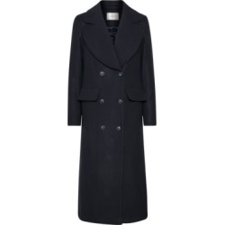 Lilot Wool-Blend Double-Breasted Coat
