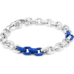 Flatiron Sterling Silver Colorblock Chain-Link Bracelet found on Bargain Bro UK from Saks Fifth Avenue UK